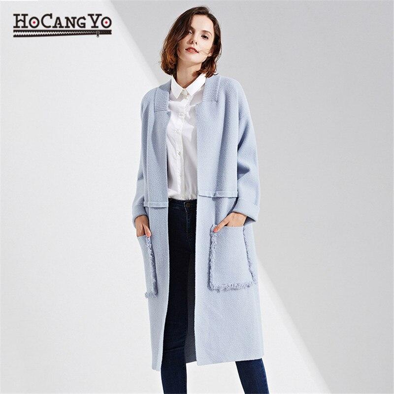 แฟชั่นผู้หญิงยาว Cardigans Coat Full   sleeve ถักเสื้อสเวตเตอร์ถักผู้หญิงเสื้อกันหนาวยาวหญิงเปิดตะเข็บหนาเสื้อกันหนาว-ใน คาร์ดิแกน จาก เสื้อผ้าสตรี บน AliExpress - 11.11_สิบเอ็ด สิบเอ็ดวันคนโสด 1