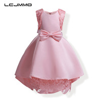 LCJMMO High Quality Lace Princess Girls Dresses Sleeveless Party Wedding Dresses 2017 Summer Formal Clothes For
