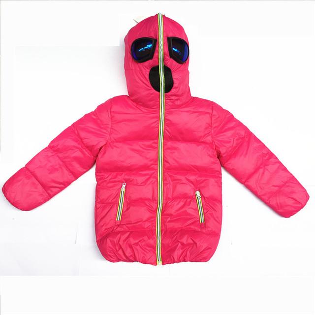 Envío de la manera de la capa de Los Niños abajo chaqueta de Alien Gafas chaqueta ropa de Niño y Niña ropa de Invierno