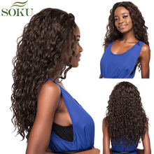 SOKU Synthetic Lace Front Wigs With Baby Hair Free Part Long