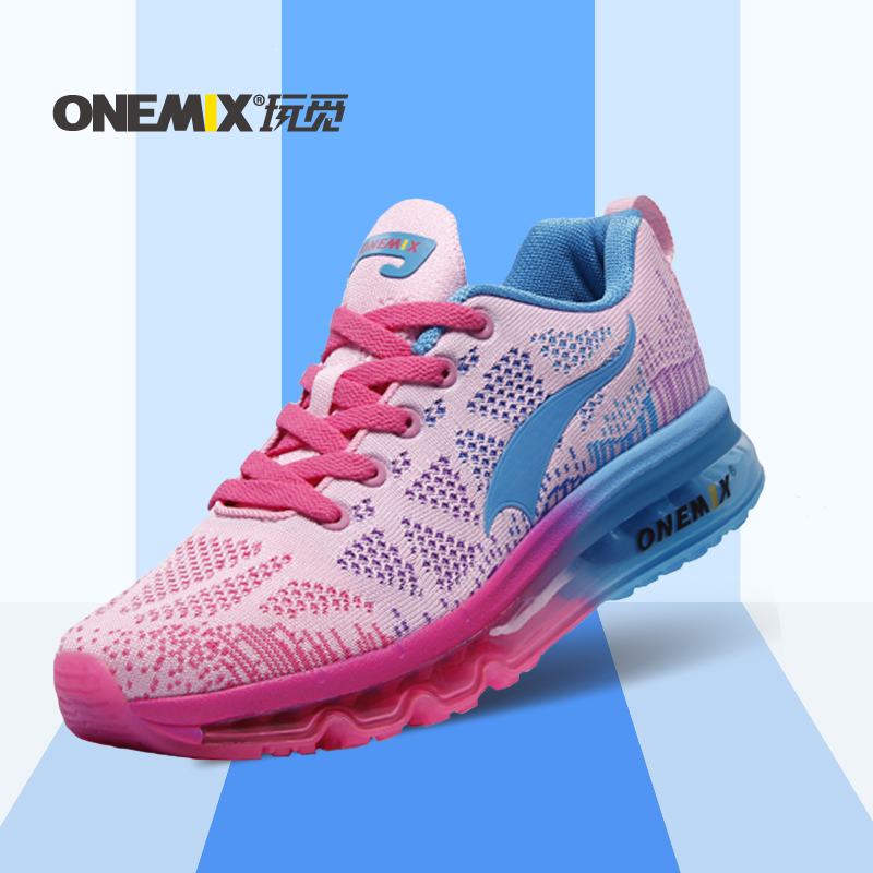 ФОТО Onemix Brand Running Shoes Women Breathable Mens Sport Shoes Female Training Shoes Sneakers free shipping