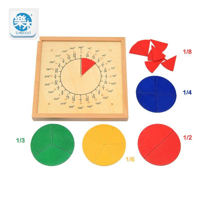 Montessori Board Baby Toys Circular Mathematics Fractie Divisie - Leren en onderwijs