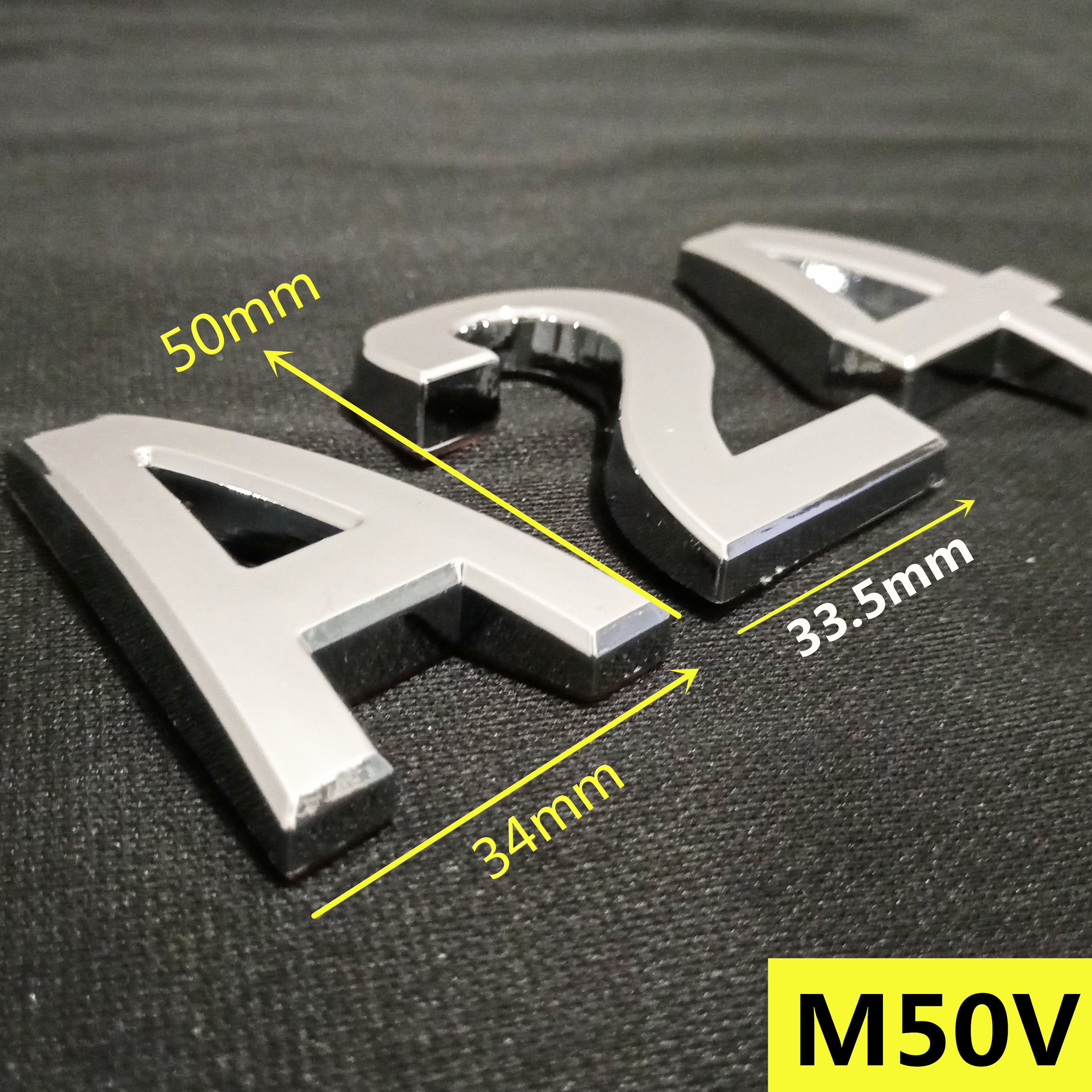 50mm 0123456789 A to Z Modern Silver Plaque Number House Hotel Door Address Digits Sticker Plate Sign ABS plastic