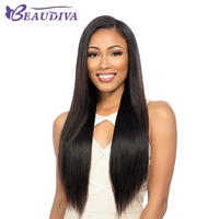 Front Lace Wigs 150% Density Human Hair Silky Straight Brazilian Hair Natural Color Wigs High Simulation Human Scalp