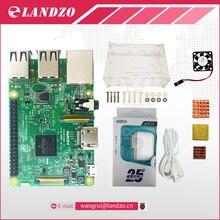 E Raspberry Pi 3 Modèle B starter kit-pi 3 conseil/pi 3 cas/d'alimentation standard Américain fournir/dissipateur de chaleur