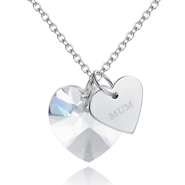 Fashion 2017 mum necklaces pendants crystal love heart pendant fashion 2017 mum necklaces pendants crystal love heart pendant necklace for women mothers day jewelry mozeypictures Image collections