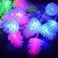 Piña Led Hadas Luz de la Secuencia 5 M 20 Led 8 Modos LED Cadena Luces de la Navidad Echinacea Guirnaldas Para La Boda de Vacaciones partido