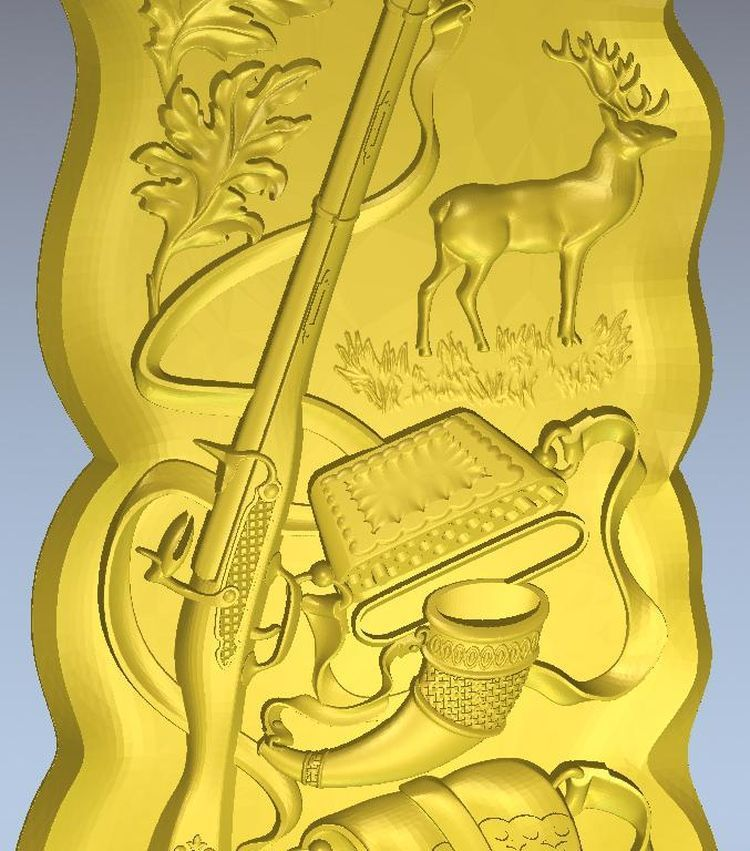 3d model relief  Panno_hunter_1 for  cnc in STL file format martyrs faith hope and love and their mother sophia 3d model relief figure stl format religion for cnc in stl file format