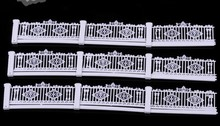 Teraysun 1/100 scale model plastic guardrail construction sand table garden fence for architectural materials