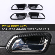 Inner Door Bowl Frame Cover Trim Interior Accessories for Jeep Grand Cherokee 2017 Auto Car-styling(China)