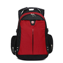 Swiss Good Quality 14 16 inch notebook laptop backpack man woman bag student rucksack daily fashion purple red color waterproof