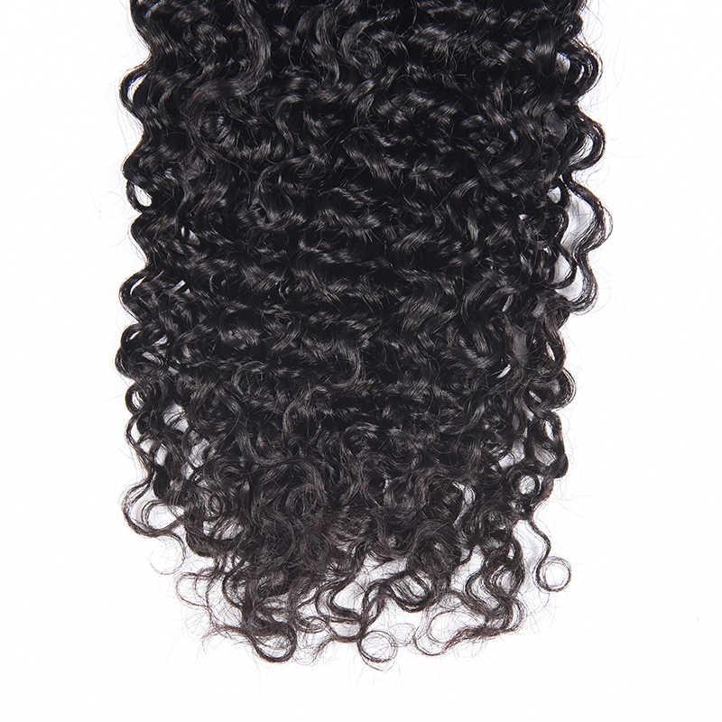 Brasiliano Riccio crespo Dei Capelli 100% di Remy Dei Capelli Umani Del Tessuto Bundles Colore Naturale Può essere Tinto Il Trasporto Libero Fortunato Queen Hair Prodotto