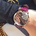Люксовый Бренд Высокого Качества Мода Повседневная Простой Стиль Кожаный Ремешок Наручные Часы С Браслетом Для Женщин Часы reloj mujer