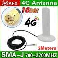 16dBi 4G Antena SMA RP-SMA 3 m cable para 4G Módem LTE 1805-1880 mhz/2500-2570 mhz/2620-2690 mhz