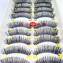 50 Pair Handmade Thick Long False Eyelashes Cilios Postico Eye Lashes Voluminous Makeup Eyelash Extension Eye Lashes Eyelashes