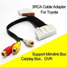 Автомобиль 3RCA Кабель-адаптер для венчика Reiz Camry Корона RAV4 Прадо DVD навигационная головного устройства 28Pin синий AV Порты и разъёмы