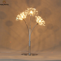Modern Crystal Dandelion Table Lamp Bedroom Table Lamps For Living Room Table Light Dining Room Deco Lighting Luminaire Table