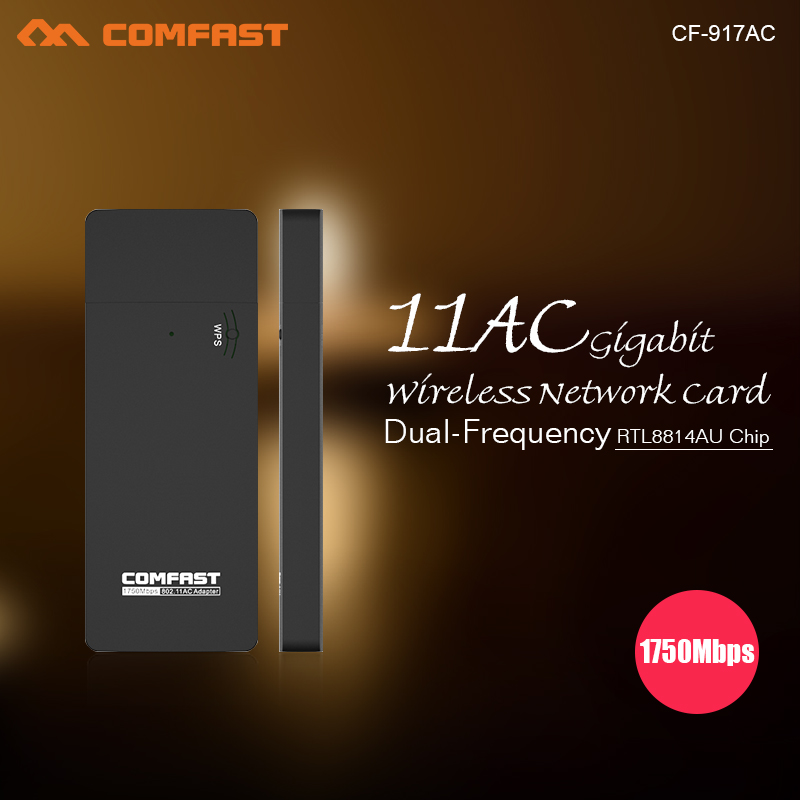 1750Mbps USB Wi-FI ADAPTER COMFAST CF-917AC 802.11ac double frequency network card USB3.0 4*4MIMO 2.4G+5.8G ac wifi dognle