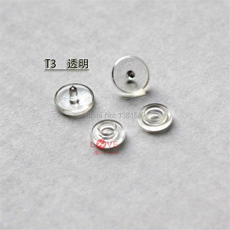 100 компл./лот T3 Clear Snap Пуговицы 10 мм КАМ Пластик кнопки
