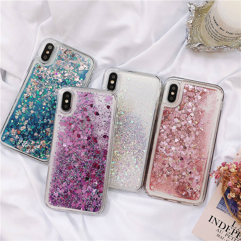For Samsung Galaxy A51 A71 A81 A91 Note 10 S10 Lite A50 A70 Dynamic Liquid Quicksand Glitter Soft Silicone Case With Sequins