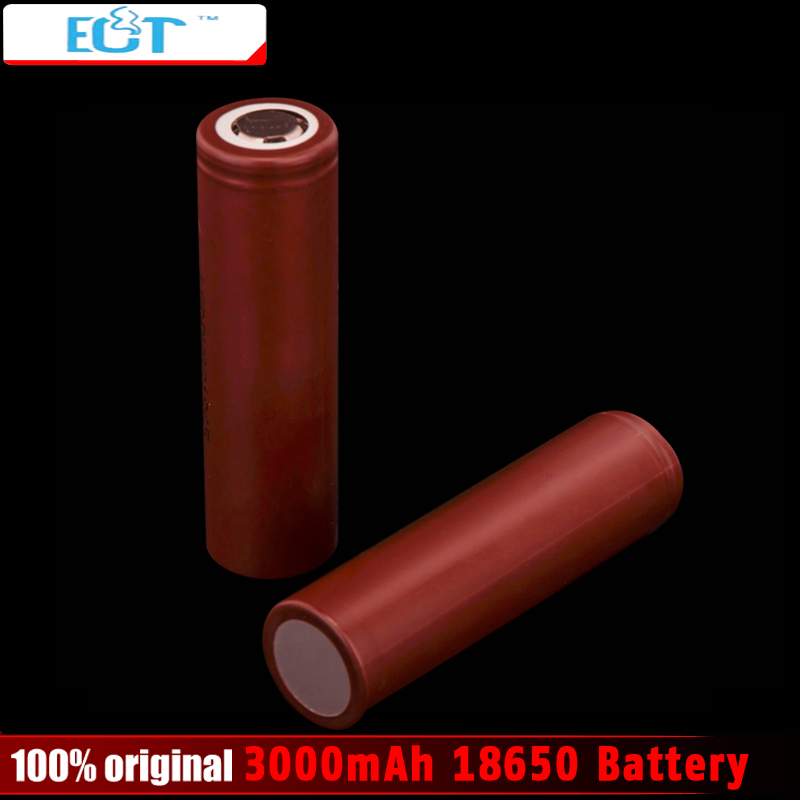 New 18650 3000mAh battery 3 6V discharge 20A Rechargeble Battery 18650 for electronic cigarette Mods 1pcs