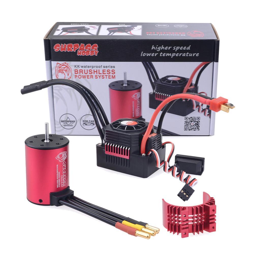 Image 5 - KK Waterproof Combo 3650 1650KV 2050KV 2300KV 3100KV 3600KV 4500KV Brushless Motor w//Heat Sink 60A ESC for RC 1/10-in Parts & Accessories from Toys & Hobbies