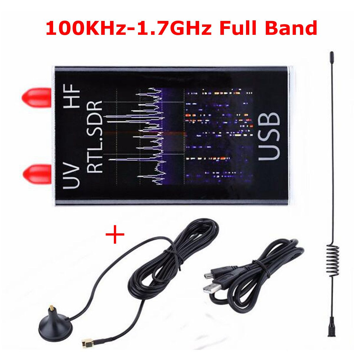 Mini Full B and UV HF RTL-SDR USB Digital Mobile TV Tuner Receiver 100KHz-1.7GHz /R820T+8232 Ham Radio with Antenna for Phone PC цены