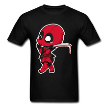 Red Deadpool Cartoon New Mens Top T Shirts Summer Awesome Designers Tshirt For Boy 90s Clothing Funny Marvel T-Shirts USA