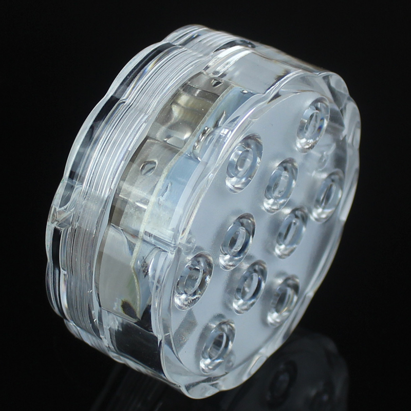 4X RGB 10 Led Submersible Light Battery Operated IP68 Waterproof Underwater Swimming Pool Wedding Party Piscina Pond Lighting