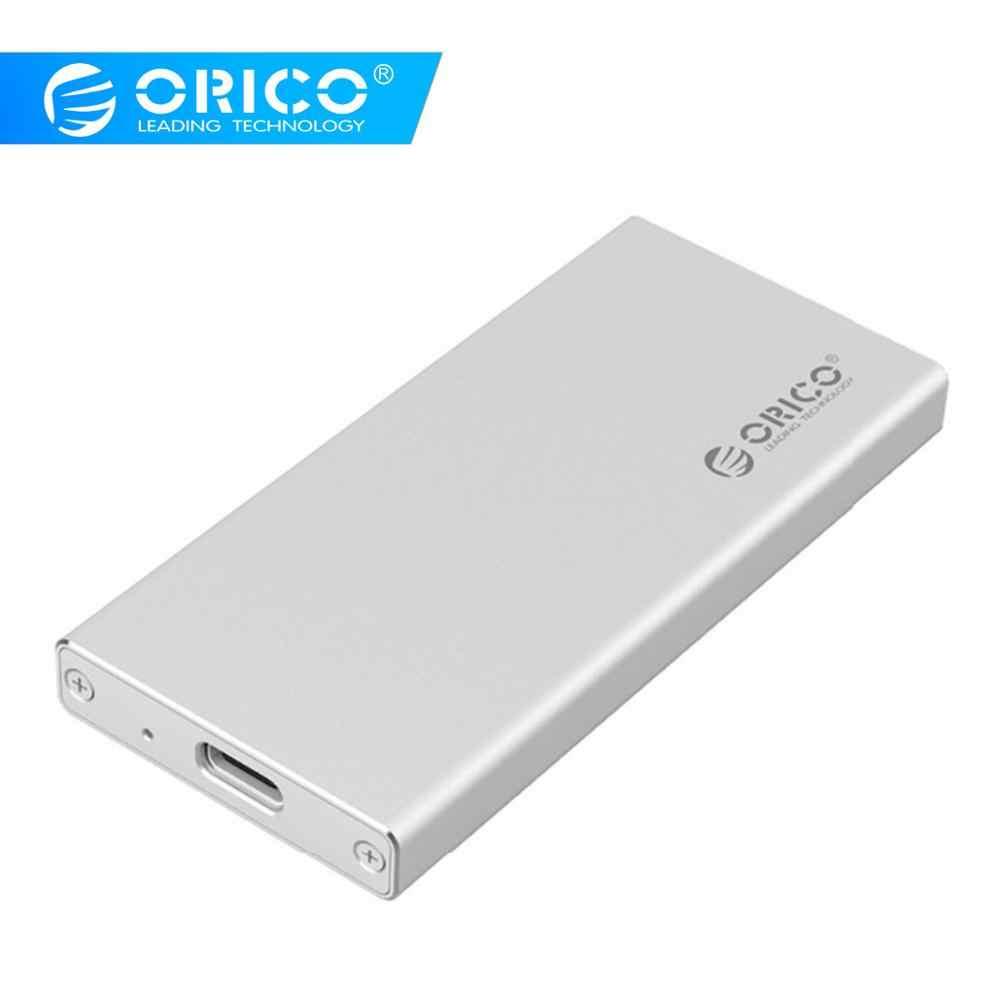ORICO Tip-c Gen1 mSATA 3.0 HDD muhafaza Kutusu Kasa USB3.1 için 1.8 inç SSD [Desteği UASP ve 2 TB]-Gümüş