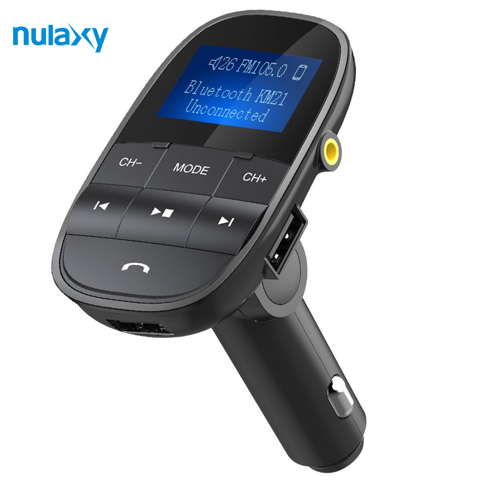 Nulaxy FM Transmitter Bluetooth FM Modulator Freisprechen Auto MP3 Player Unterstützung USB-Stick Sd-karte USB Ladegerät Aux Out /In