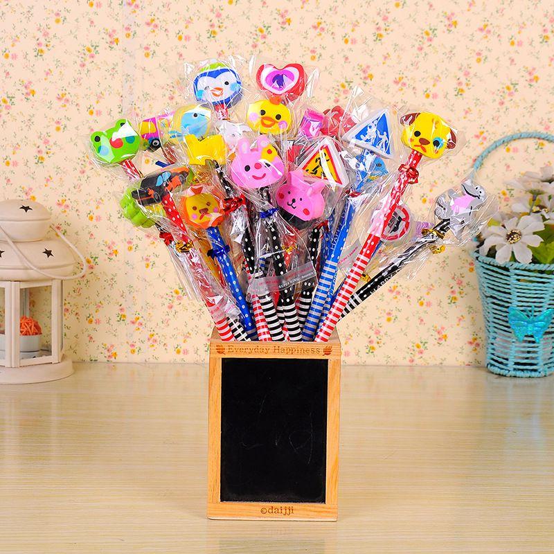 Kawaii lápis HB presente para kid borracha lapices lapis escolar lápis lapiz lapices infantiles potloden lapis de escrever escola