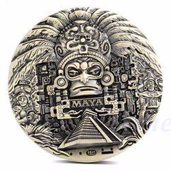 1x kalendarz majów azteków pamiątkowe proroctwo pamiątkowa moneta kolekcja sztuki prezent na monety|gift collection|gift giftsgift coin -