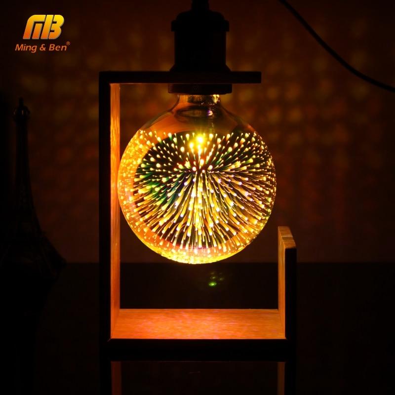 3D Decoration Bulb Firework 110V 220V ST64 G95 G80 G125 A60 Bottle Heart E27 Holiday Lights Novelty Christmas Lamp Vintage Bulbs