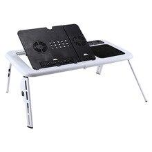 Складной Стол Ноутбук Регулируемый Стол Для Компьютера Стенд Складной Стол Вентилятор Охлаждения Лоток Для Диван-Кровать Ноутбук
