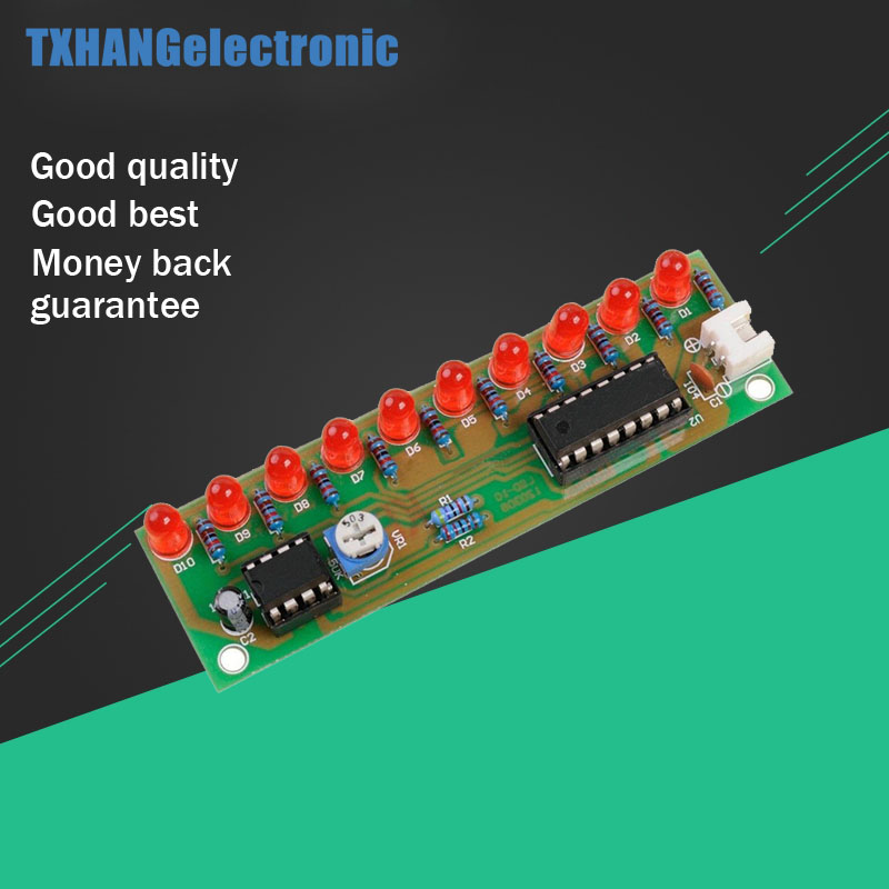 100% Quality Diy Electronic Led Chaser Lights Frequency Counter Kit Ne555 Cd4017 Running Light Circuit Counter Smd Electronica Module Driver Active Components Electronic Components & Supplies