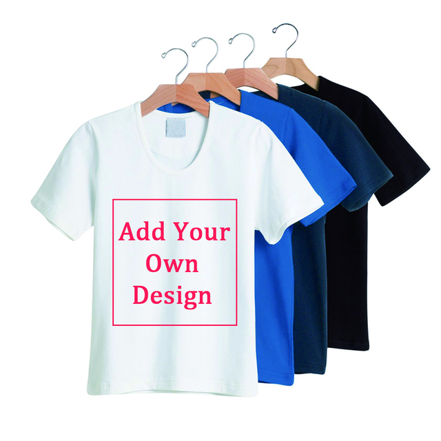 48ebd6d88526 Men/Women Cotton T Shirt Custom Logo Personalized T-shirts Free Shipping Customized  Print Text Shirts Send Out Within 3 Days