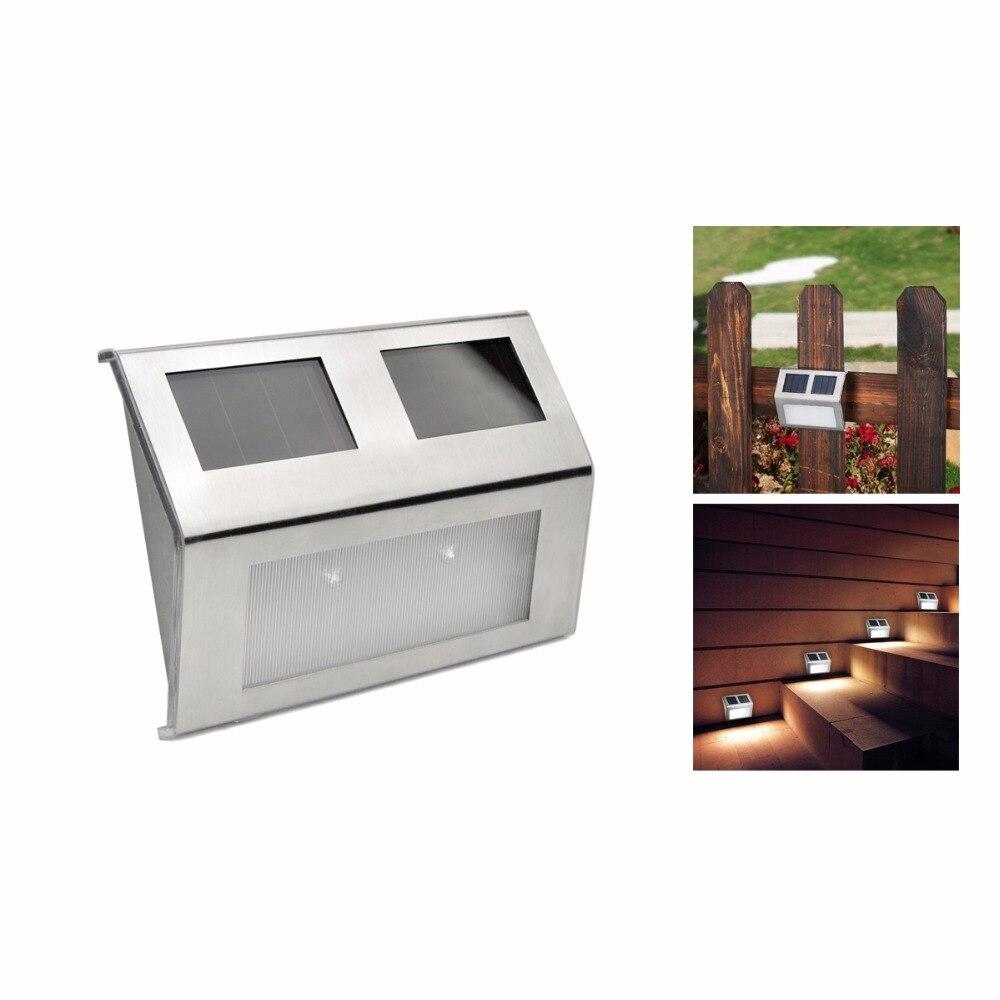 4pcs lot led solar light outdoor indoor steps lamp wall - Led solar jardin ...