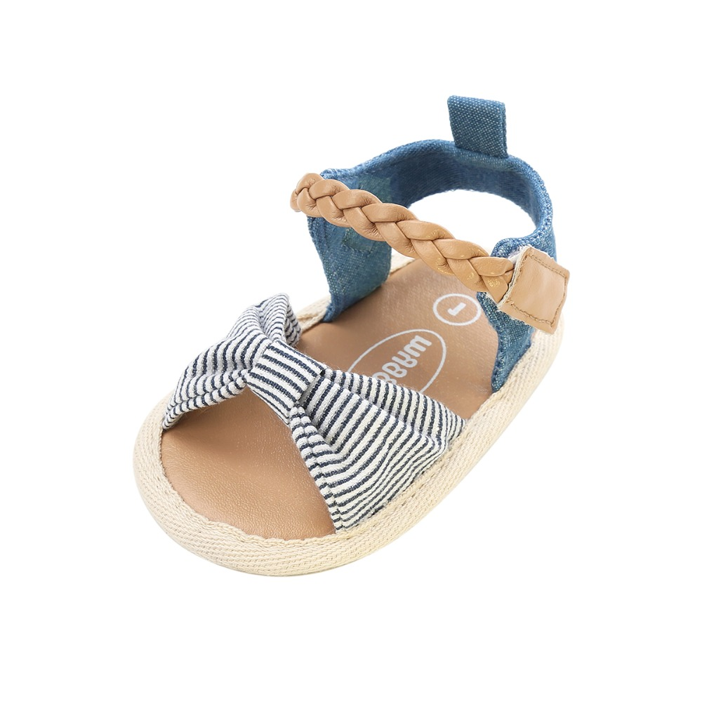 2017 New Design Five Style Gingham Butterfly knot Hook Loop Flat Heel Summer Baby Girl Sandals For 0 18 Months Wholesale in Sandals Clogs from Mother Kids