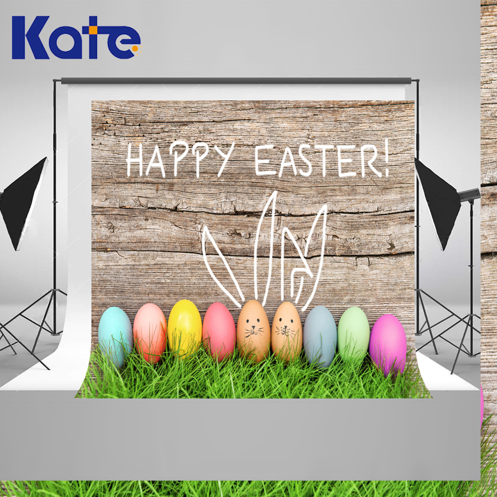 150x220cmKate Children Photo Studio Photography Backdrops Spring Easter Newborn Backdrop Photography Eggs Wood Photo Background