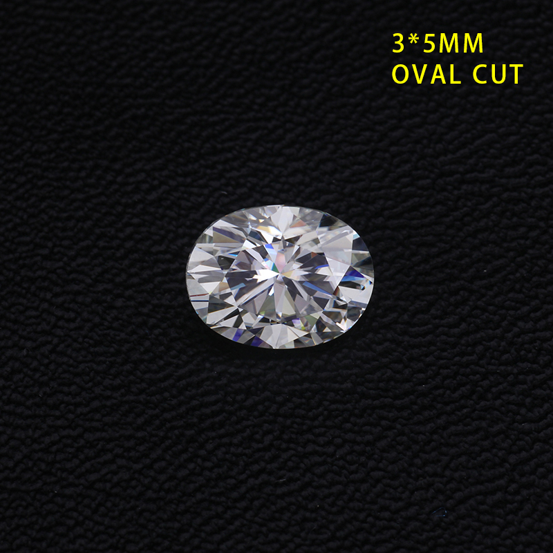 Pierres précieuses Cheestar en vrac moissanites pierre de haute qualité gh couleur forme ovale 3*5mm 0.2ct Moissanites pierres synthétiques diamants