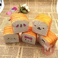 New 10cm Soft Squeeze Kawaii Emoji Toast Cute Face Bread Toy Desk Decor Funny Slow Rising Toys For Children Adult