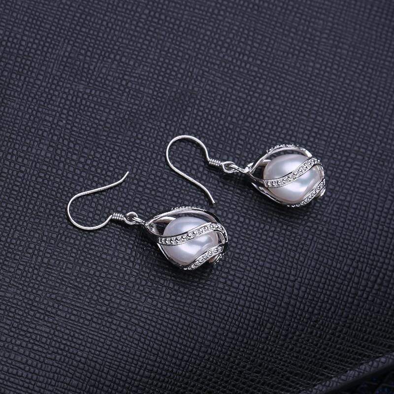 FENASY Perle dråbe øreringe Perle smykker retro choker til kvinder - Smykker - Foto 3