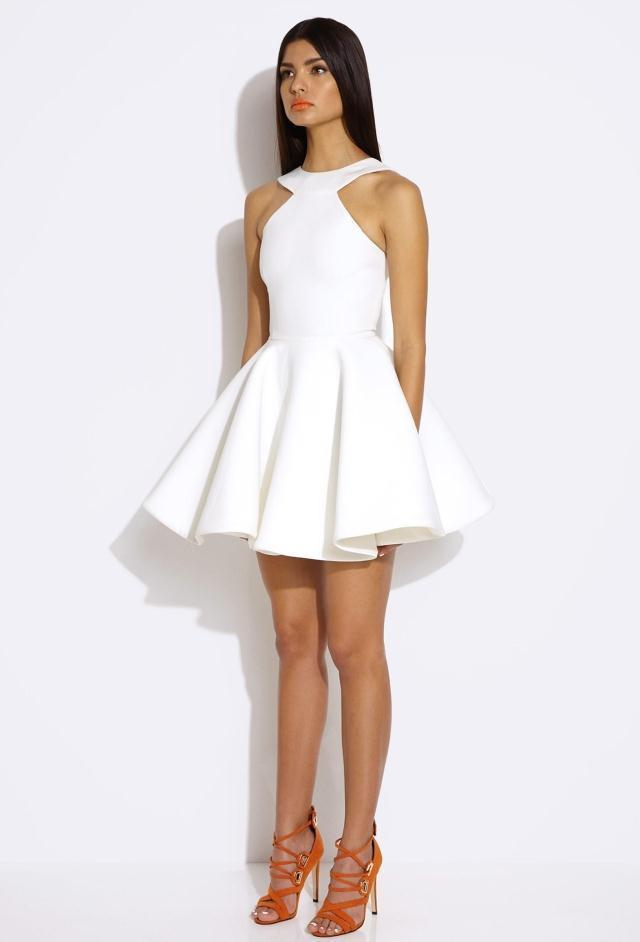 white out dresses cut Sexy