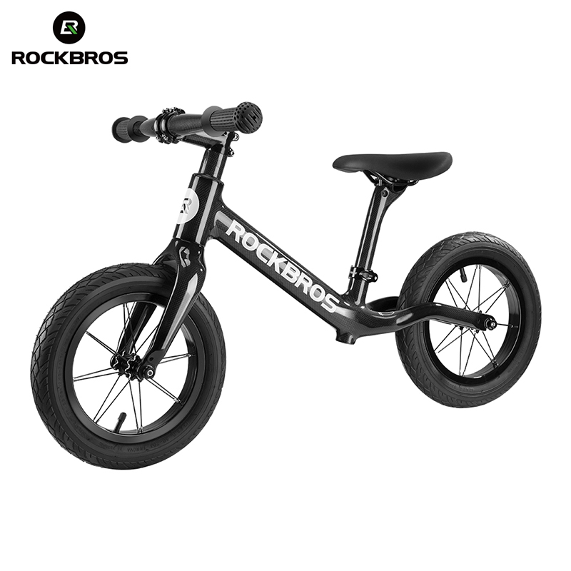 ROCKBROS Cycling Bike Bicycle Carbon Fiber Slide Bike Child Balance Bike Light Corrosion Resistant Bike For 2-6 Years Old Child