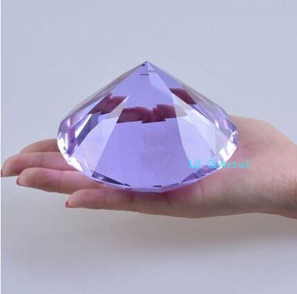 Grand Diamant, 10 cm Violet Cristal Diamant Gros 1 pc Couleur 100mm K9 Diamant pour Maison De Décoration De Mariage et Cadeaux de Fête