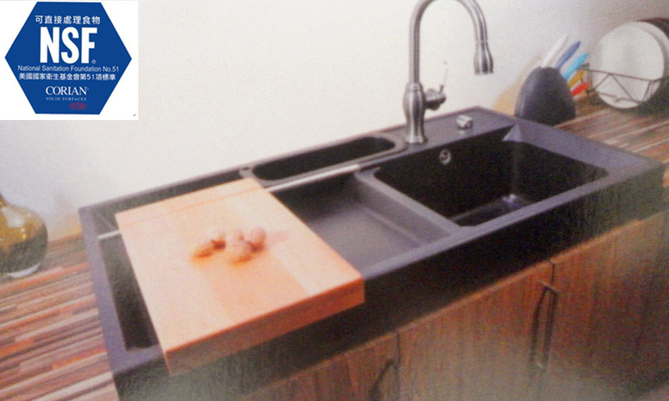 Undermount Kitchen Sinks With Drainboard Simple Sink Shower Picture More  Detailed Picture About Bar Sink Cabinet
