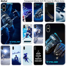 Hot Ice Hockey Arena Olahraga Silikon Lembut Fashion Case untuk Apple Iphone 11 Pro XS Max XR X 7 8 plus 6 6 S PLUS 5 5C 5S SE TPU Cover(China)
