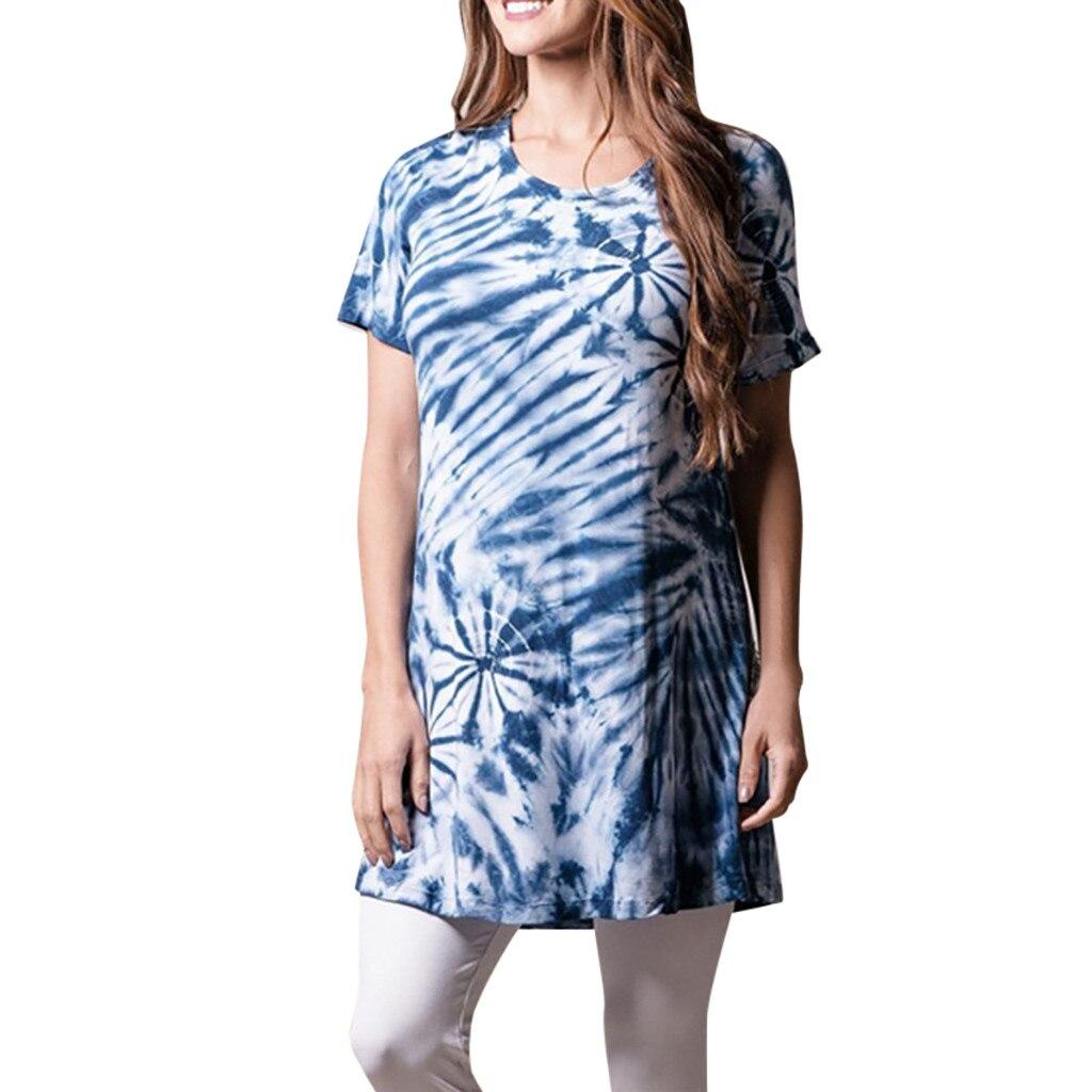 Wanita T Shirt Dasi Mewarnai Gambar Lengan Pendek O Leher