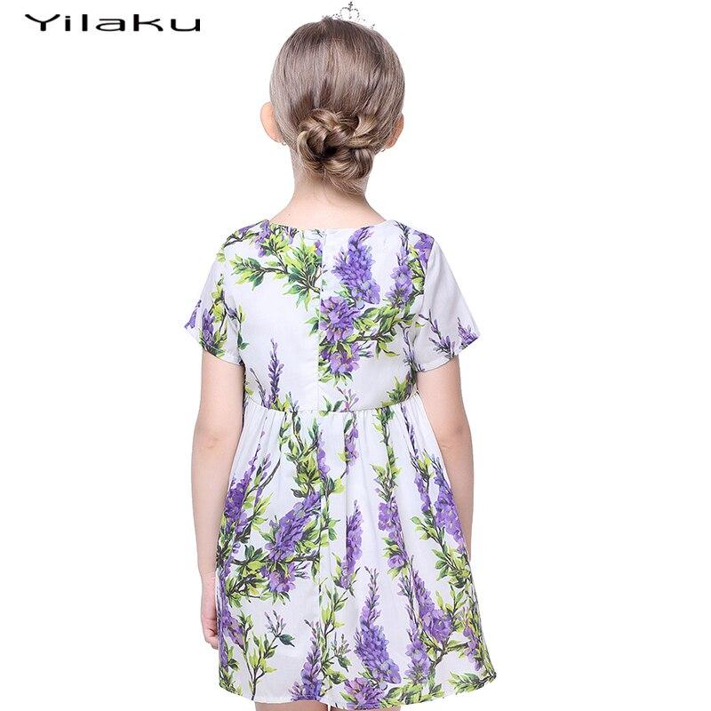 Floral Print Cute Toddler Girls Dress 2017 Summer Girls Cothes z - Ubrania dziecięce - Zdjęcie 2